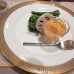るぱたき - 季節の野菜の盛り合わせ バーニャカウダソースで