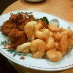 桃里 - 天ぷら2種盛り合わせ