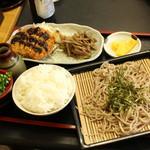 手打ちの南舟 - ざる蕎麦定食(日替わり)