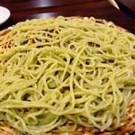御料理武蔵野 - そばシャブ鍋(〆の冷たいそば)