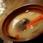 夜景のみえる 北海道原始焼き酒場ルンゴカーニバル - サーヴィスカニ汁