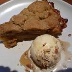 ガーデンハウス レストラン - アップルパイとアイスクリームのせっと