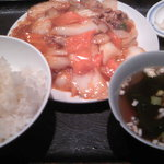 四川屋台 - 春雨と豚の炒め物
