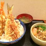 ときわ - A天丼+ミニたぬきそば  1,200円