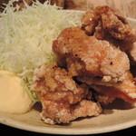 赤鶏農園 - 唐揚とキャベツ
