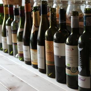 こだわりのボトルワインが¥2980均一で楽しめる♪