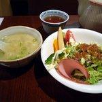 さくら厨房 - 酢豚ランチ/スープとサラダ