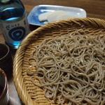 33710706 - my石臼手挽き自家製蕎麦と本醸造生酒(素人蕎麦でお恥ずかしい)