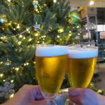33711056 - 生ビールで乾杯♪