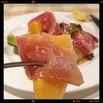 ステーキの神戸屋 - 生ハムと夕張メロン⭐️  МёЯЯУ X'маs┌iii┐*。゜o。('(ェ)'*)♪