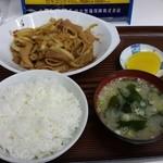食事処 三平 - ホルモン定食(650円)です。2014年11月Ⅰ