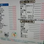 食事処 三平 - メニューです(2014年11月)。