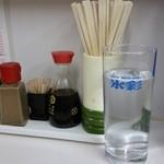 食事処 三平 - お水が大きくて助かります(2014年11月Ⅰ)。