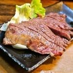 まるい - 2014.12 黒毛和牛ステーキ(150g1,200円)