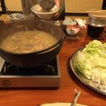 33714572 - 猪鍋/味噌/6人前(5000円コース)