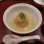 割烹 恵比寿 - <再訪・2014年12月>コース料理。エビ芋饅頭の餡かけ。