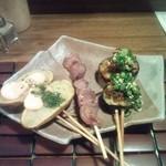Mimaderi - 野菜のかわり串焼き、砂ずり