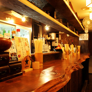 奈良吉野杉の一本モノカウンター