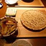 33722446 - 冬蕪と美桜鶏のみぞれつけ汁そば(1278円)(※大盛り)煮たカブと摺り下ろしたカブ、2種類の味が同時に楽しめます