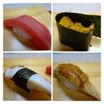 松喜寿司 - 赤身・うに・アナゴ・タコ