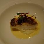 OSTERIA L'AURA - 真鯛のポワレ 塩レモンのソース