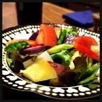 中目黒 MUSHIKI - ゴロゴロ野菜の農園サラダ 1150円