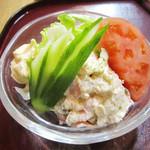 季節料理 みのり - ポテトサラダ(700円+税)。<2014.12>