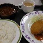 横浜市役所 第三食堂 かをり - '14.12.25 本日の日替り650円+ハヤシ180円