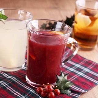 ホットワインとホット柚子梅酒リバーサイドでホット一息!