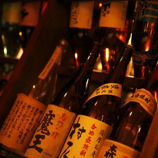 レア焼酎多数!常時80種以上品揃え!季節の稀少日本酒も多数!