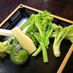 うなぎ割烹 康川 - 春野菜の天婦羅 600円 (竹の子、こごみ、菜の花、行者ニンニク、タラの芽、蕗薹)