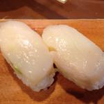 いなせ寿司 - タンパク質バッチリ、ホタテの風味がよい!