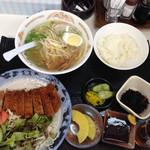 豚太郎 - お昼のとんかつ定食、ボリューム満点❗️