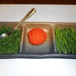 日本料理 つか佐 - 安岡ねぎと紅葉おろし