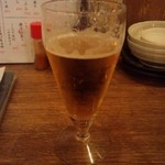 33734240 - お約束の生ビール。今回はグラスで。