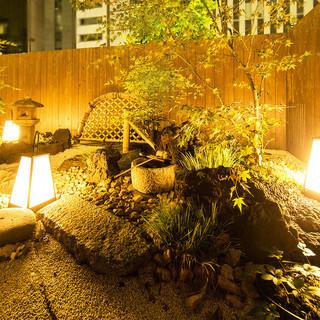 都会の喧騒の中にある美しい庭園