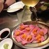 まるしん - 料理写真:牛タン刺しウニのせ