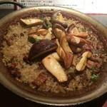 バル恵比寿 - ポルチーニ茸とたっぷりキノコのパエーリャ