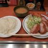 キッチン ジロー - 料理写真:...「チキンカツ&帆立ミルクコロッケ(870円)」、ご飯大盛りコール無料!!