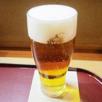 季節料理 みのり - エビス生ビール(500円+税)<2014.12>