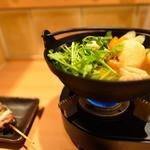 秋田比内地鶏生産責任者の店 本家あべや - きりたんぽ鍋とネギマ