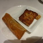 ザ トウキョウフェニックス バイ ホウメイシュン - 飲茶セットの春巻き、大根餅