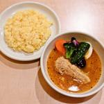 スープカレー syukur - 『豚角煮と野菜のスープカレー』ランチセット1000円 サラダ、ドリンク、デザート付