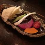 串焼鳥 まほろば - 付き出しのお野菜
