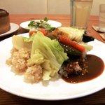 cafe matka - 野菜カレー(野菜とカレールーをかけた後)