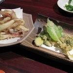 3374816 - 塩するめの天ぷら&山菜天ぷら