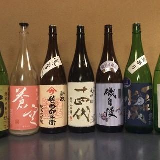 日本酒の取り揃えは常時30種類以上‼︎その種類は多種多様!