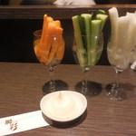 Shunsai - 何を食べるにしても注文する野菜スティック 290円
