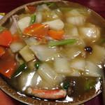 天壇 - 中華丼 ¥800 の中華餡