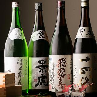 自慢の地鶏料理との相性を考えた多彩な日本酒を常備